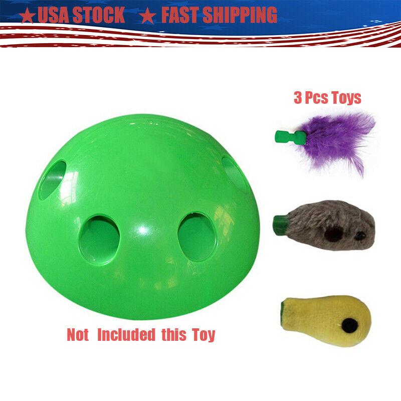 "3Pcs Pop-N""Play Interactive Motion Cat Toy Mouse Tease Pet T"