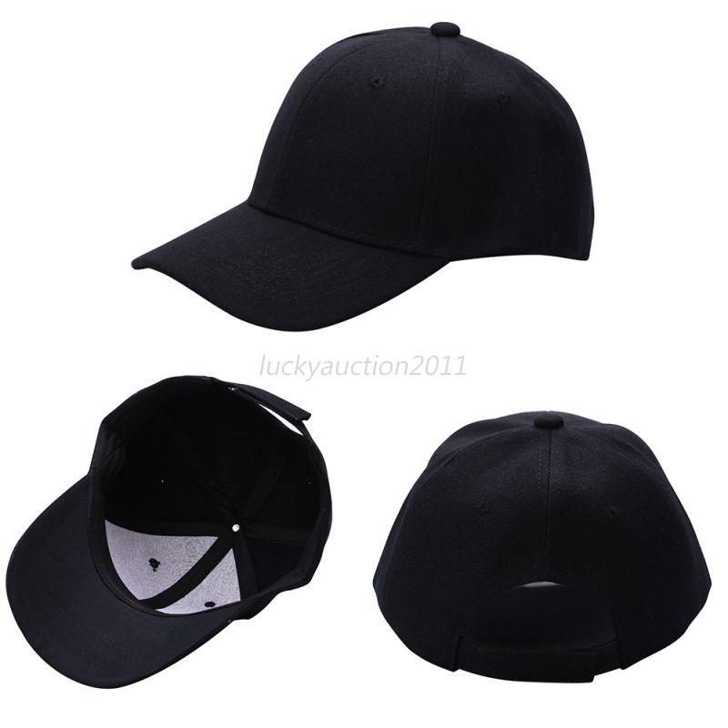 Baseball Cap Plain Solid Washed Cap Style Cotton Adjustable Ball Caps Hat Unisex
